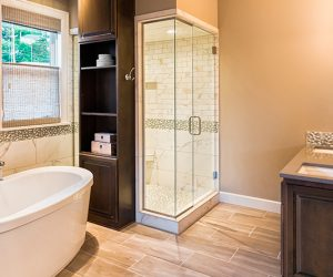 bathroom remodeling adds a luxurious look