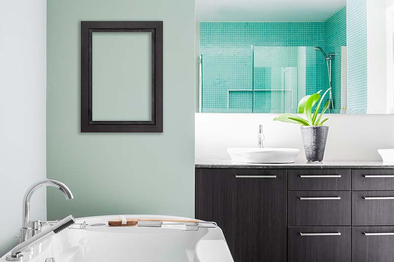 Paint Your Bathroom Walls with Semi-Gloss Finish