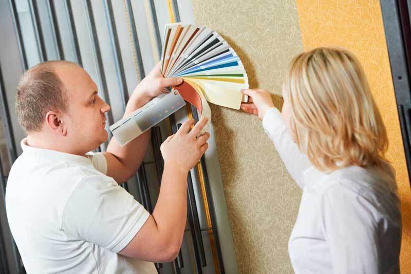 Commercial Painting Contractor Helping Client Choose Color
