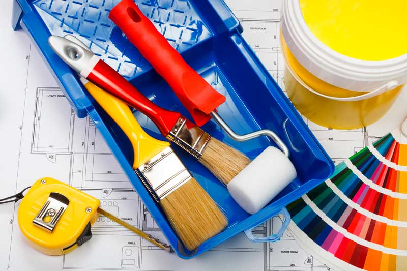 Commercial Painting Tools and Materials